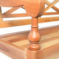 Batavia Bench 98 cm Solid Mahogany Wood Light Brown