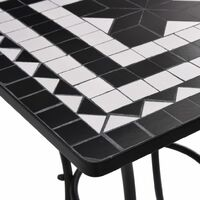 Mosaic Bistro Table Black and White 60 cm Ceramic