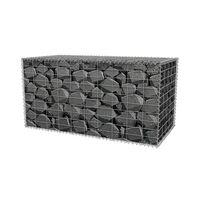 Gabion Basket Galvanised Steel 100x50x50 cm