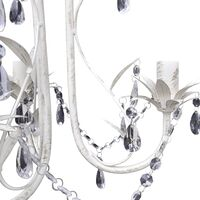 Crystal Pendant Ceiling Lamp Chandeliers 4 pcs Elegant White