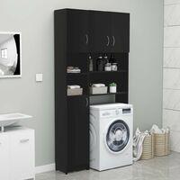 Bathroom Cabinet Black 32x25.5x190 cm Chipboard