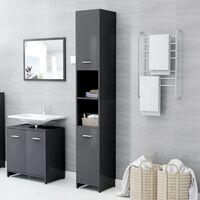 Bathroom Cabinet Grey 30x30x183.5 cm Chipboard