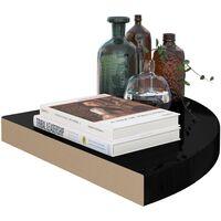 Floating Corner Shelves 4 pcs High Gloss Black 35x35x3.8 cm MDF