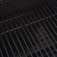 BBQ Charcoal Smoker with Bottom Shelf Black