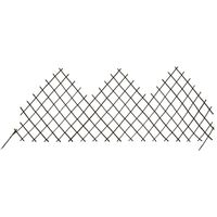 YOUTHUP Garden Trellis Fences 5 pcs 170x75 cm Willow