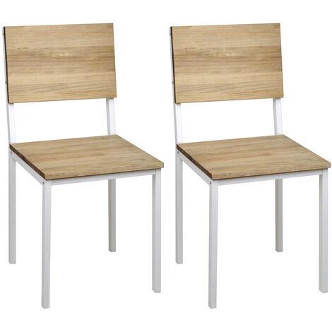 Lot de 2 chaises Icub. démontables. Blanc 41x50x86cm. Effect Vintage