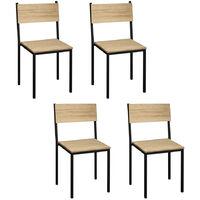 Lot de 4 chaises iCub empilables. Noir 40x40x85cm. Effect Vintage