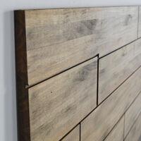 Tête de lit en bois massif de pin. Planches bois déréglées. 150X60x1,8cm.