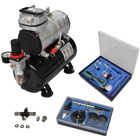 Topdeal VDTD03496_FR Kit de compresseur professionnel avec 2 pistolets