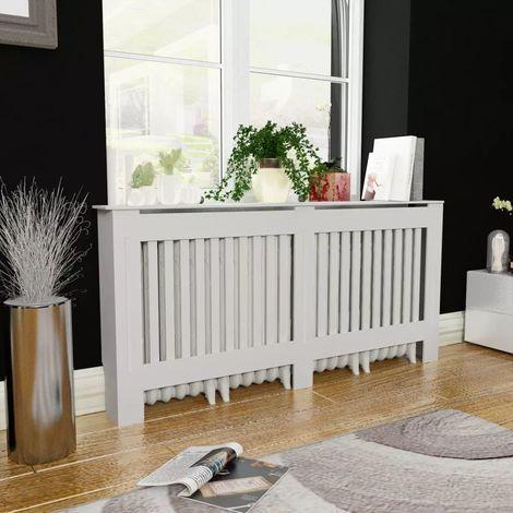 Topdeal VDTD10464_FR Cache-radiateur Blanc MDF 172 cm