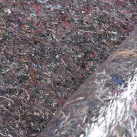 Topdeal VDTD04763_FR Bâche de protection contre peinture 2 pcs 50 m 180 g/m2 Gris
