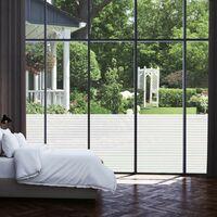 Topdeal VDTD04825_FR Film dépoli autoadhésif d'intimité pour fenêtre Rayures 0,9x5 m