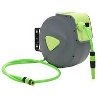 Topdeal VDTD05783_FR Enrouleur mural automatique pour tuyau rétractable 20+2 m