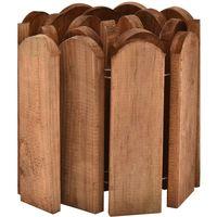 Topdeal Rouleau de bordure Marron 120 cm Bois de pin imprégné