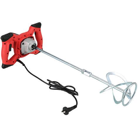 2100W portable réglable 6 vitesses électrique ciment béton agitateur mélangeur de peinture mortier agitateur coulis outil de mélange 220 V