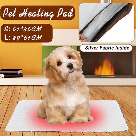 Tapis de chat pour chien de compagnie Tapis de lit Tapis doux et chaud Matelas thermique Lavable Auto-chauffant 【89 * 61CM】 L L (90x64cm)