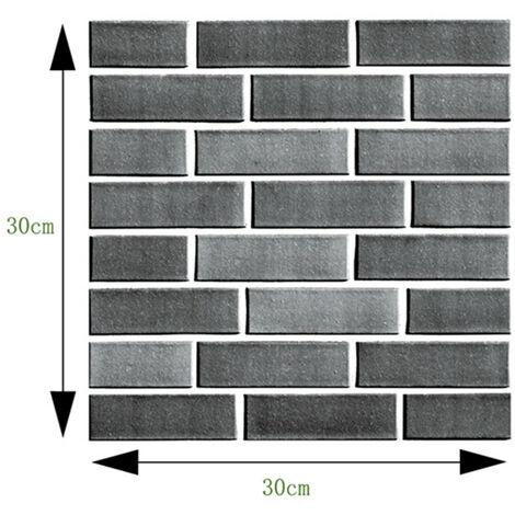 10X 3D Wall Sticker Carrelage Brique Auto-adhésif Cuisine Salle De Bains Bureau Décor à La Maison 512 512