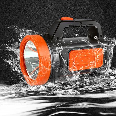 Projecteur rechargeable LED Torch camping garage home Orange + (avec éclairage latéral) Orange Avec veilleuse