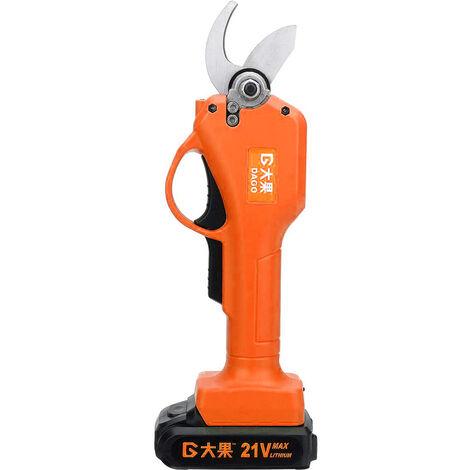 DAGO Sécateur électrique avec 1 batterie sans fil 21 V Sécateur de jardin 40mm max.