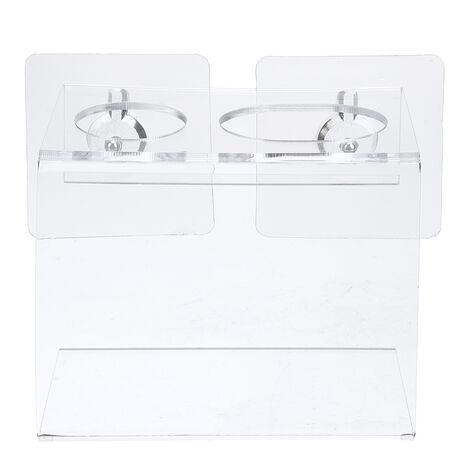 Support mural pour brosse à dents électrique et support de stockage de dentifrice Organisateur de salle de bain (brosse à dents et dentifrice non inclus) Un trou pour brosse à dents transparent 1 porte-brosse à dents