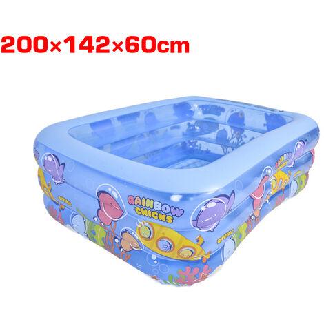 Piscine gonflable pour enfants piscine baignoire extérieure intérieure 200*150*60cm