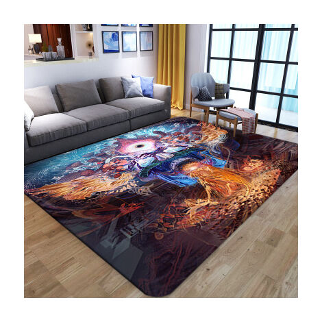 Tapis de salle à manger de chambre à coucher de tapis de salon squelette abstrait (style3 100x150cm)