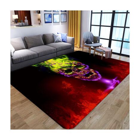 Tapis de salle à manger de chambre à coucher de tapis de salon squelette abstrait (style4 100x150cm)