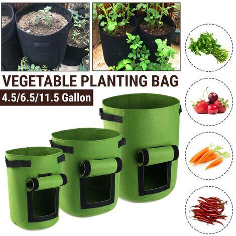Conteneur de légumes de planteur de pot de sac de plantation de pommes de terre de 4,5 gallons 25x35CM