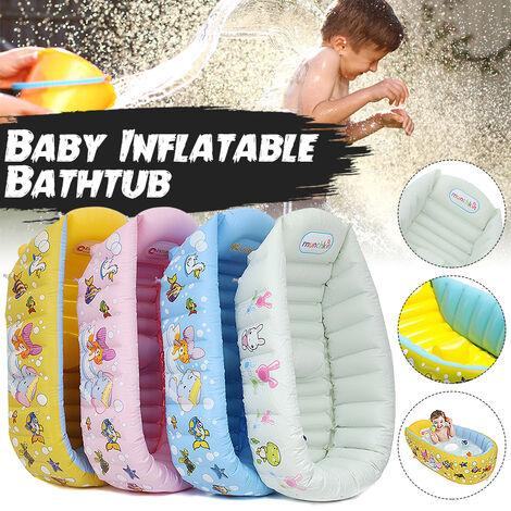 Siège de baignoire gonflable pour bébé bébé Mommy Helper Kid Toddler Baignoire portable (vert clair)