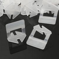 200x Système de Nivellement Carrelage Sol Mural Espaceur Niveau Pince Clip 1mm 200 pièces 1 mm