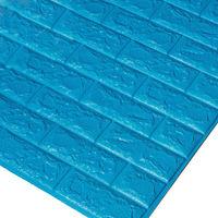 Papier Peint Panneau Autocollant Mural Brique 3D Auto-adhésif Mousse Imperméable Bleu 70*77cm bleu 10pcs bleu
