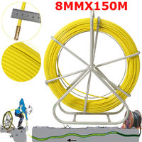 8mm 150m conduit en fibre de verre Rodder bande de poisson cable tirant la tige extracteur de fil tige de traction Jaune 8 mm par 150 m