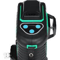 360 3D 12 lignes Niveau laser vertes auto nivelant niveau horizontal Vertical outil magnétique type A uniquement