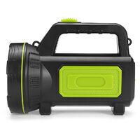 Projecteur rechargeable LED Torch camping garage home Green + (avec éclairage latéral) vert Avec veilleuse