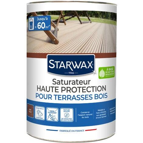 Saturateur application facile pour terrasses et bois extérieurs teck 5L