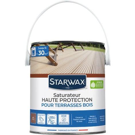 Saturateur application facile pour terrasses et bois extérieurs teck 2,5L STARWAX - Teck