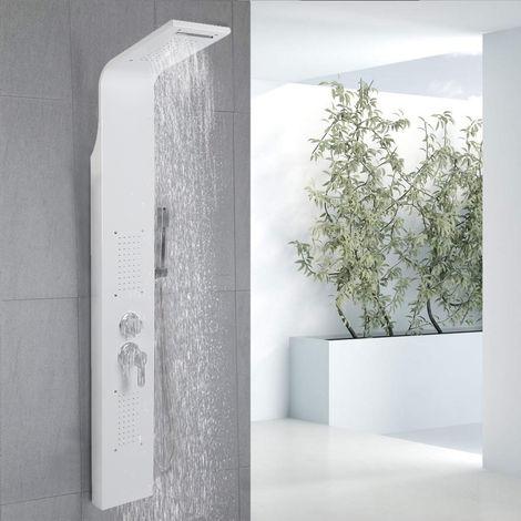 BATHRINS®Colonne de douche en acier, buse de massage,blanc