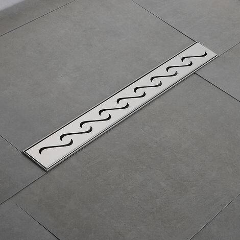 Caniveau de douche 70 cm en inox 304 pour la douche à l'italienne.