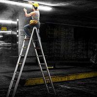 BATHRINS®Echelle Télescopique - Echelle Pliante-Echelle Escamotable en Aluminium (5M Pliante)