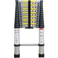 BATHRINS®Echelle Télescopique - Echelle Pliante-Echelle Escamotable en Aluminium (4.7M Pliante)