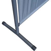 2 piezas Paravent 150 x 190 cm tela separador de ambientes partición jardín grande Biombo tabique balcón privacidad Gris