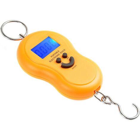 Balance électronique de voyage / balance suspendue / balance à bagages / balance de poche / balance à poissons 40kg/10g jaune - Mod. WH-40kg Hulu-03