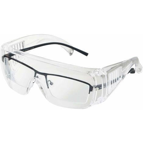 Lunettes de sécurité pour porteurs de lunettes, protection contre le vent et les UV, lunettes de vision intégrale, lunettes de protection EN166, lunettes de protection contre le meulage pour la conduite, le laboratoire, le chantier, l'extérieur