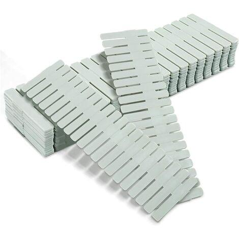 diviseurs de tiroir, séparateurs de Compartiment de Grille de tiroir, Plastique Organiseur de tiroir, 16 pièces de séparateurs Verts, réglables