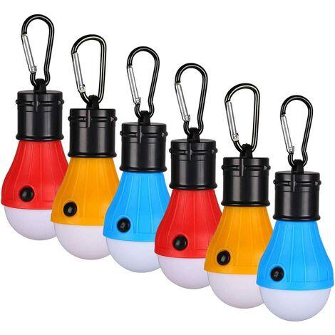 Meliana MA-4010 Lot de 2 Lampes de Camping /à LED Extensibles avec poign/ées en m/étal Robustes et Peu encombrantes