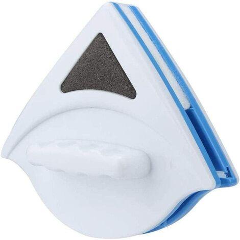 Lave Vitre Magnétiqu,Brosse de Nettoyage pour vitres Double Face, Double Latérale Magnétique Nettoyant pour Vitres avec Corde Anti-Chute pour vitres vitrées 3-8mm (Bleu)