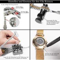 153 pièces Outil de montre professionnel Taille réglable Ouvre-boîtier Tournevis Bracelet Changement de batterie Kit d'outils pour la plupart des montres