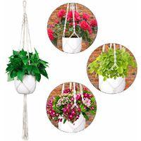 Macrame Suspension Plante Porte Suspendre Décoration du Jardin Intérieur Extérieur Suspendus Planteur Panier (2 Paquets)