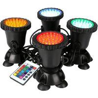 RGB Spot Light Led Aquarium lampe sous-Marine Eclairage Submersible pour Poisson 36 LED Lumière Support Rampe Décoration Tank Lampe LED pour Aquarium