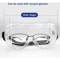 2 pcs. lunettes de protection - antibuée lunettes de protection claires ateliers laboratoire chantiers anti salive anti crachement lunettes fermées anti-poussière pour porteurs de lunettes
